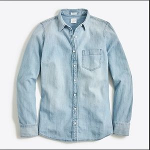 J. Crew Perfect Fit Chambray Button Down